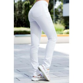 Savannah super stretch nohavice White